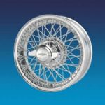 "Jaguar XK150 5""x16""   60 spokes Chrome wire wheels"